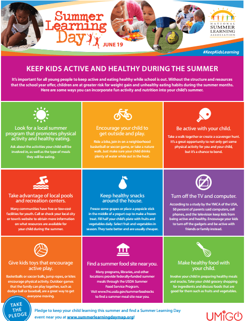 keep kids active and healthy image