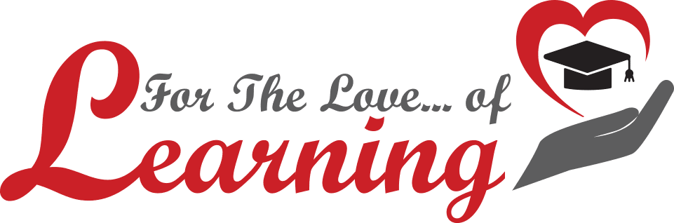 For the love of learning logo