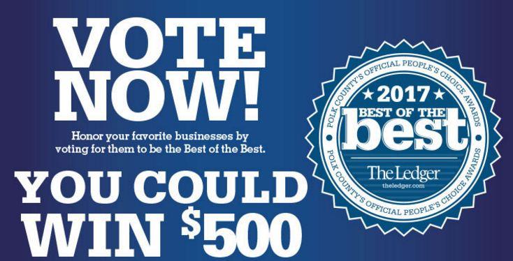 The Ledger Best of Best Polk Vote Win 500