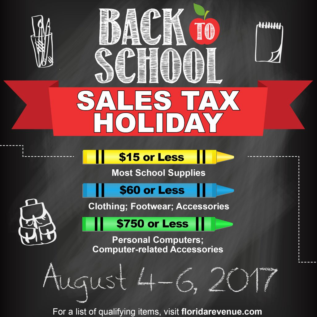 2017 Florida Sales Tax Holiday Back-to-School