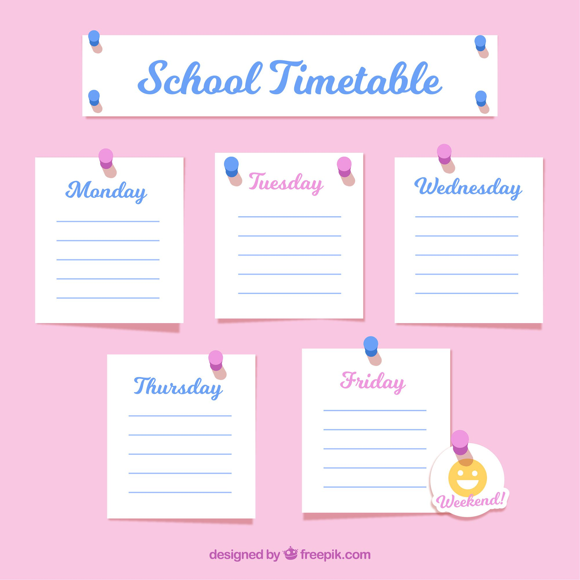 Timetable Template Learning Resource Center