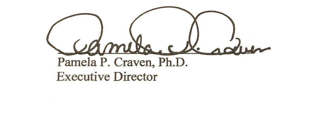 LRC Executive Director Pamela Craven signature