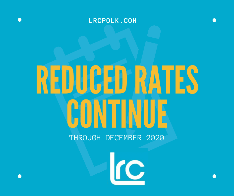 LRC REDUCED RATES THROUGH 2020